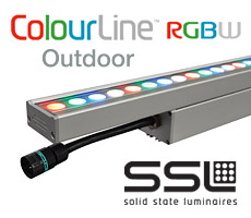 ColourLine Wet RGBW outdoor LED by Solid State Luminaires