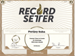Record setter world record certificate