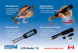 LCR-Reader and Smart Tweezers devices from Siborg Systems Inc.