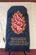 A close up of the new mantle cover for Calvary's historic Torah Scroll that was salvaged from World War II.