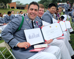 Cadets received their diplomas today at Fork Union Military Academy