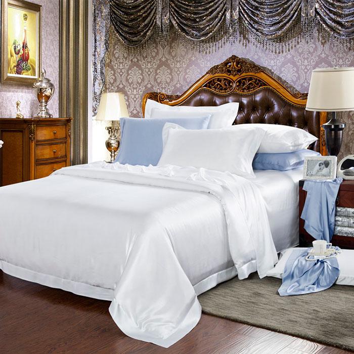 30 Momme Silk Bedding Sets WhiteSilk