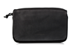 Transit Travel Case — black ballistic nylon with premium black leather flap