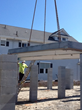 Installation of the Prespan precast concrete flooring system