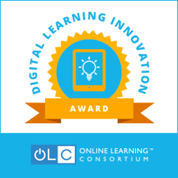OLC Digital Learning Innovation Award logo