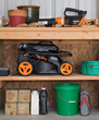 WORX 2x20, 40V Mower is easy to store.