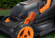 WORX 2x20, 40V mower has single lever height adjustment