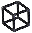 Carbon Fiber Cube Made With Modular Connectors