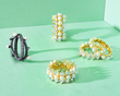 Freida Rothman Textured Pearl Rings