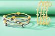 Freida Rothman Textured Pearl Cuff Bangles