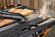 WORX 20V Shop Blower's dust brush accessory quickly removes dust and debris from cracks and crevices.