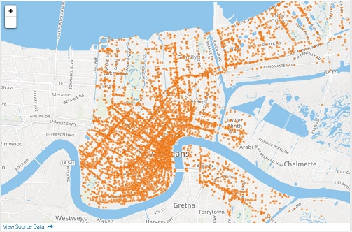 Lavis Law Firm Releases Interactive Map of New Orleans Car Accidents