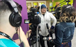 "Anthony Rodriquez with New Mexico PBS and Antonia Gonzales with National Native News interview health advocate Pax Harvey for the collaborative series ""Reconnecting with a Healthy Lifestyle."" (Photo -"