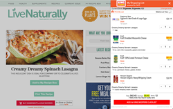 Live Naturally Shoppable Recipes powered by Myxx