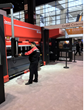 EVS Metal's new AMADA HG1003 Automatic Tool Changer at FABTECH