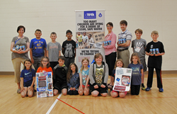 Swanson Elementary School students and teachers were excited with the results of their canned drinking water fundraiser from CW4K.
