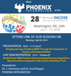 Phoenix Integration is a Proud Sponsor of the 28th Annual INCOSE International Symposium