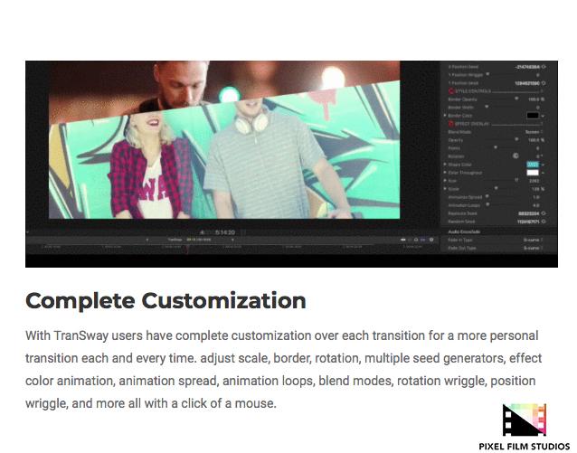 Pixel Film Studios Announces TranSway for Final Cut Pro X