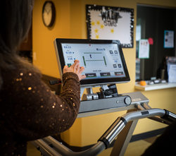 The instrumented deck of the Gait Trainer 3 facilitates walking exercise with visual biofeedback, and provides objective reporting to demonstrate progress.