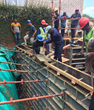 The Center will hold: The outer retaining wall of the new eDeaf Training Center in Durban (KwaZulu-Natal) gets the PENETRON ADMIX treatment to ensure no groundwater gets through.