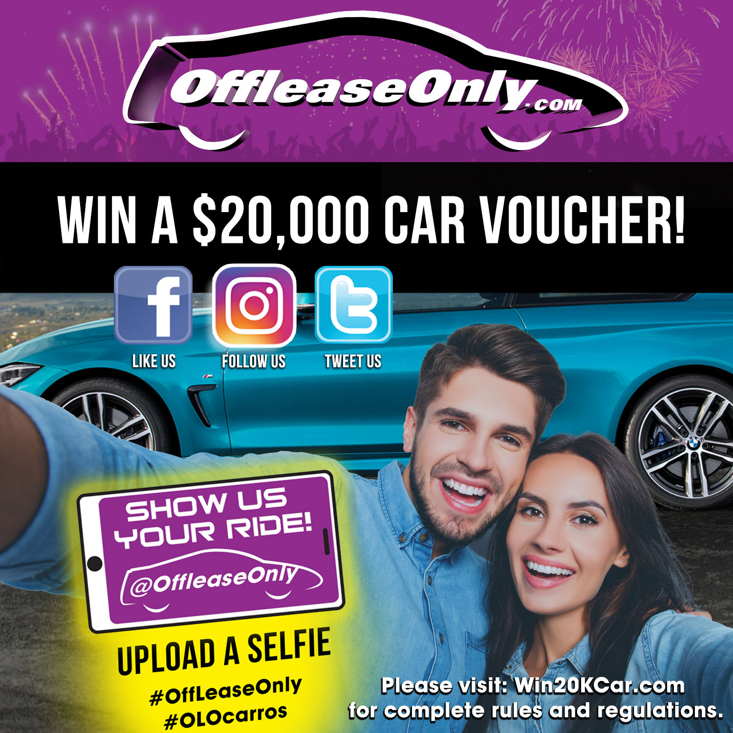 Win a $20,000 OffLeaseOnly Car Voucher Shopping Spree