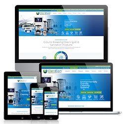 Image of Different Devices Showing GenEon's Responsive Website