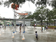 A new splash pad play area is one of many recreational facilities at the new Julian B. Lane Riverfront Park to engage the West Tampa community.