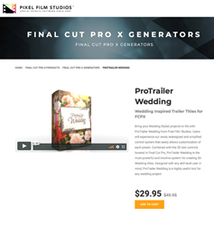 ProTrailer Wedding - FCPX Tools - Pixel Film Studios