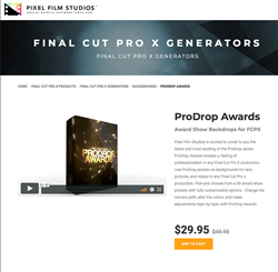 ProDrop Awards - FCPX Tools - Pixel Film Studios