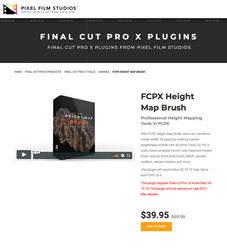 FCPX Height Map Brush - FCPX Tools - Pixel Film Studios