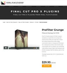 Pixel Film Studios Releases ProFilter Grunge for Final Cut Pro X