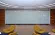 When called for, this unique product allows the all glass panels to be used as a projection screen or whiteboard.