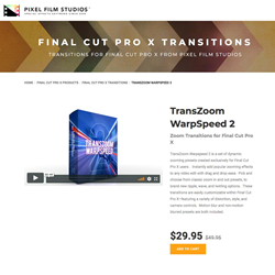 Pixel Film Studios Unveils TransZoom WarpSpeed 2 for Final Cut Pro X