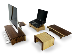 Urban Wood Computer Stands