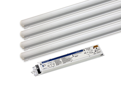 The easy-to-install retrofit kit is designed for Kenall fluorescent luminaires, but can retrofit any manufacturer's lensed product (optimal aesthetics achieved with an opal or frosted lens). The kit provides the perfect solution for facility managers to upgrade existing lighting without disrupting the ceiling.