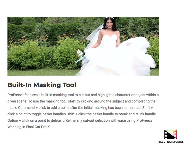 pixel film studios unveils profreeze wedding for final cut