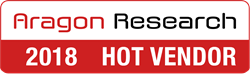 Aragon Research 2018 Hot Vendor recognition logo