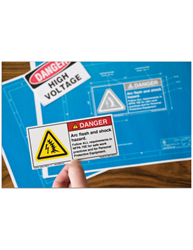 Safety label and safety sign risk assessment