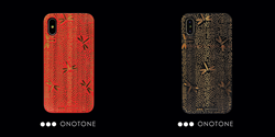 black, blue, red iPhone cases, Japanese designs