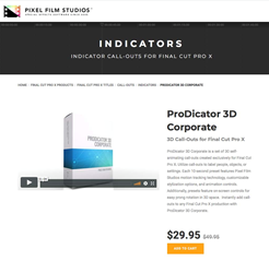 ProDicator 3D Corporate - FCPX Tools - Pixel Film Studios