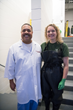 Dr. Charles Crutchfield(dermatologist)  and Dr. Rachel Thompson(veterinarian) shortly before the Botox procedure on Haps the shark.