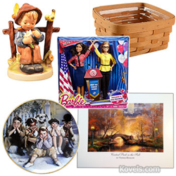 kovels, antiques, collectibles, hummel, lunch box, longaberger