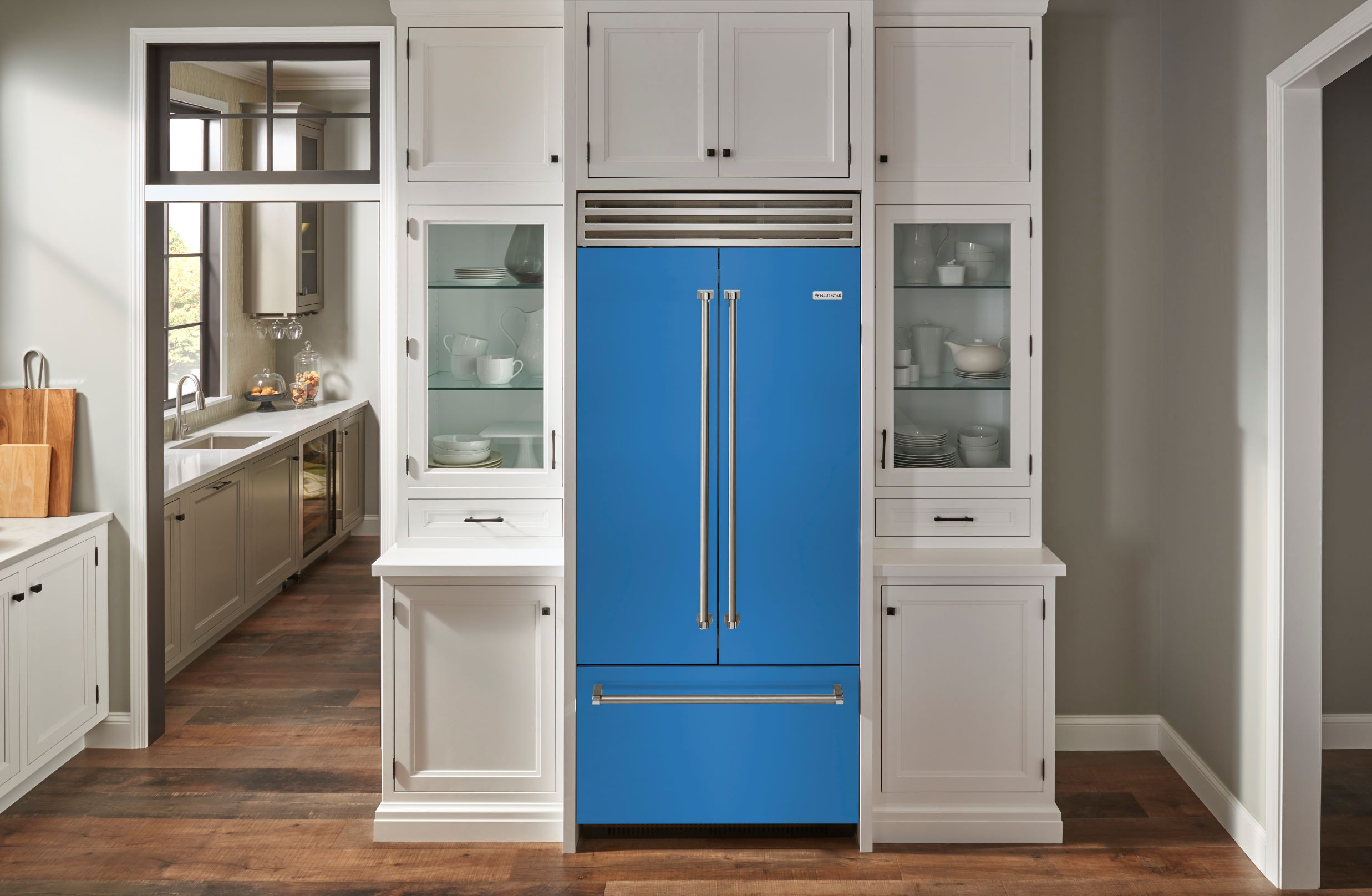 New BlueStar French Door Refrigerator Show In Savor The Seasons Color  Collection Autumn Abundance, Bluefish