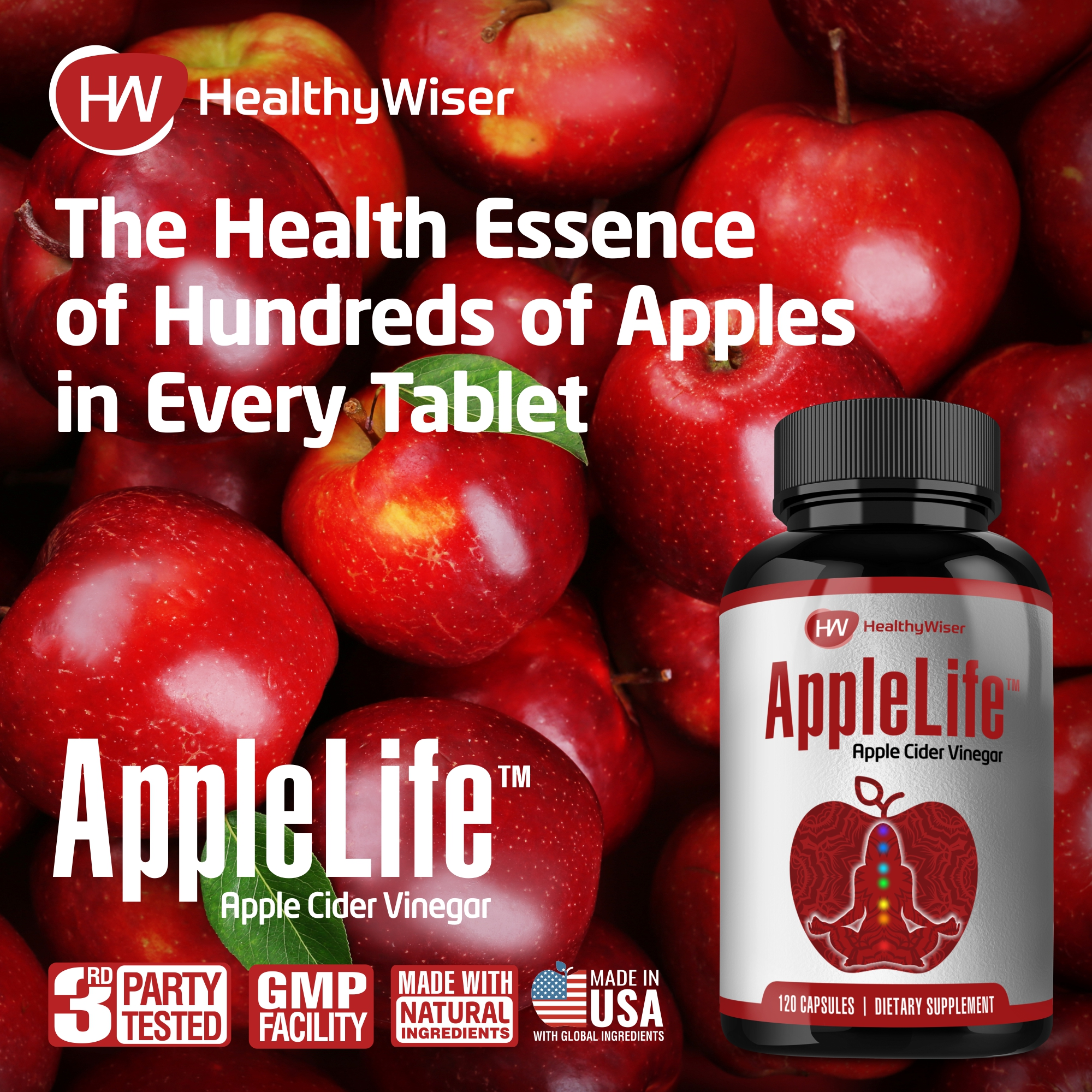 AppleLife™ Apple Cider Vinegar Capsules by HealthyWiser