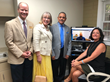 The Global Partnership for Telehealth team provided a demonstration of a live telehealth consult after the ribbon cutting ceremony.