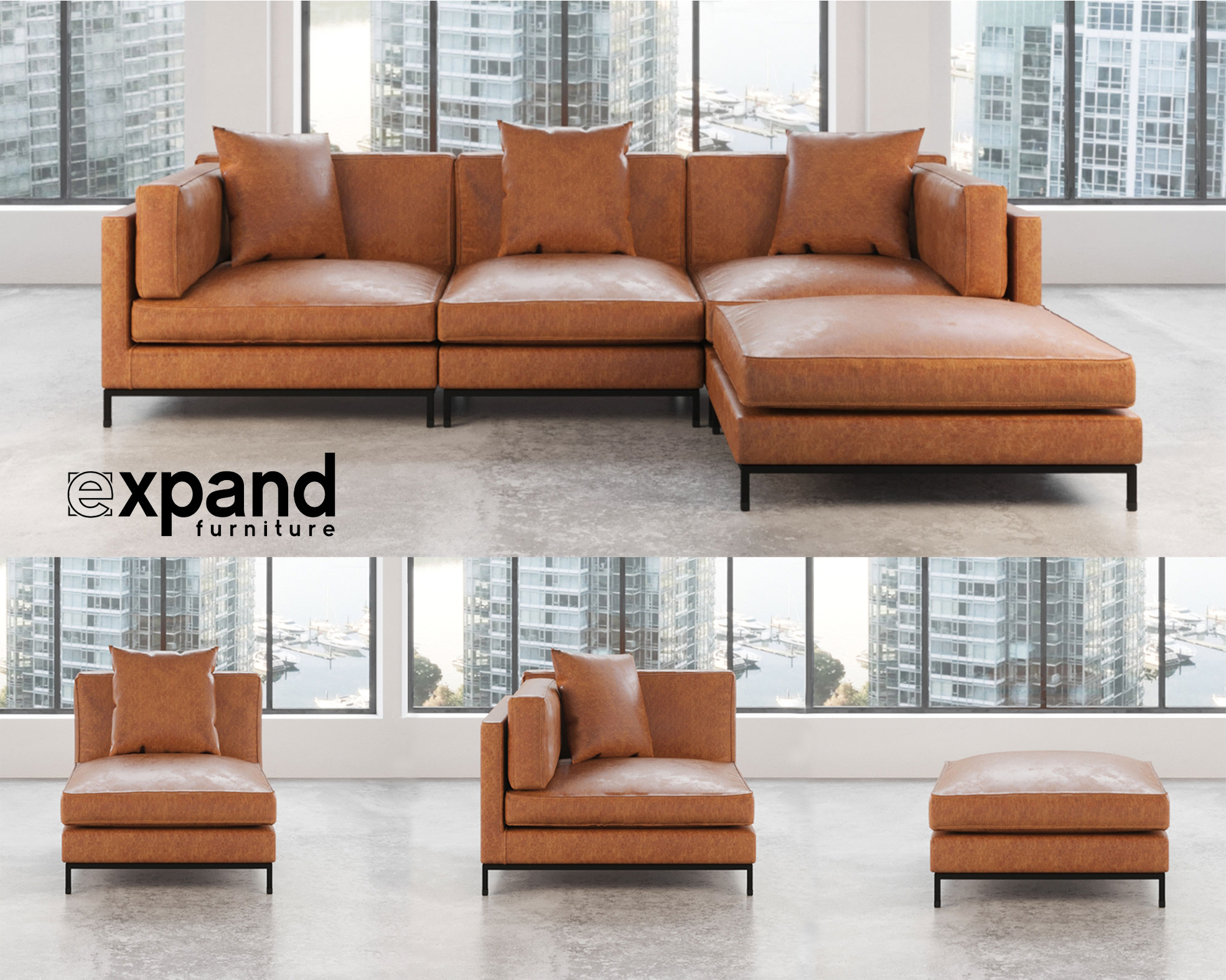 Expand Furniture Announces Space-Saving Urban Modular Sofa Line