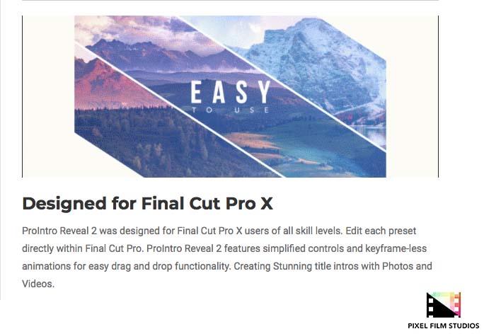 Pixel Film Studios Releases ProIntro Reveal 2 for Final Cut