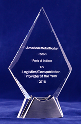The American Metal Market has named Ports of Indiana the Logistics/Transportation Provider of the Year for 2018.