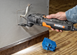 WORX 3.0 Amp Oscillating Tool making plunge cuts in drywall