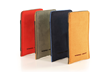 Fused Suede Case — from L to R: red/ash, ash/camel, navy/light blue; camel/ash
